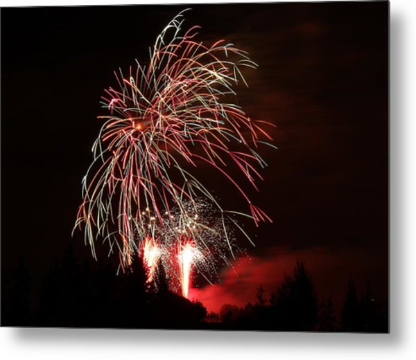 Fireworks 4 Metal Print by Donna Barker