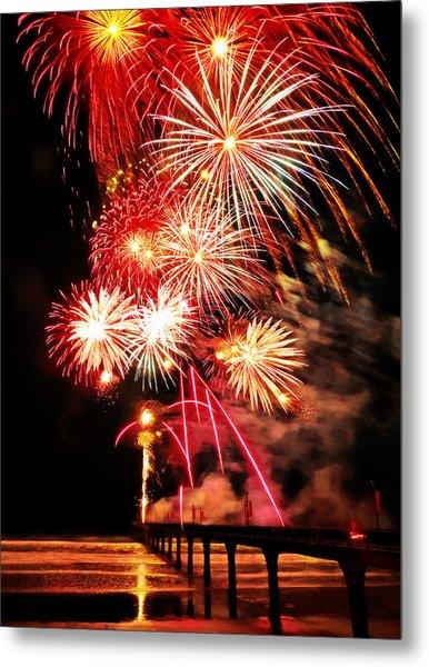 Fireworks Away Metal Print