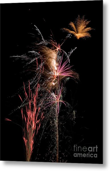 Fireworks Metal Print by Cindy Singleton