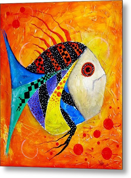 Fish Splatter II Metal Print