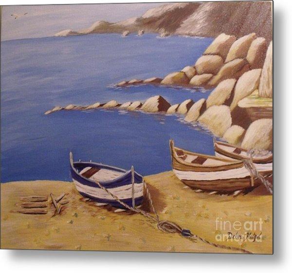 Fisherman's Boats Metal Print by Debra Piro