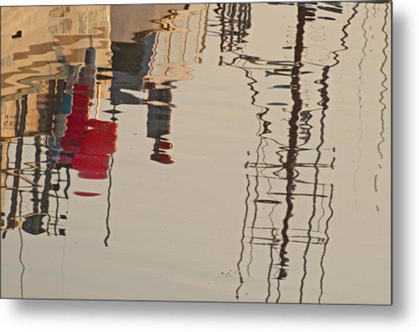 Fishing Boat Reflections Metal Print