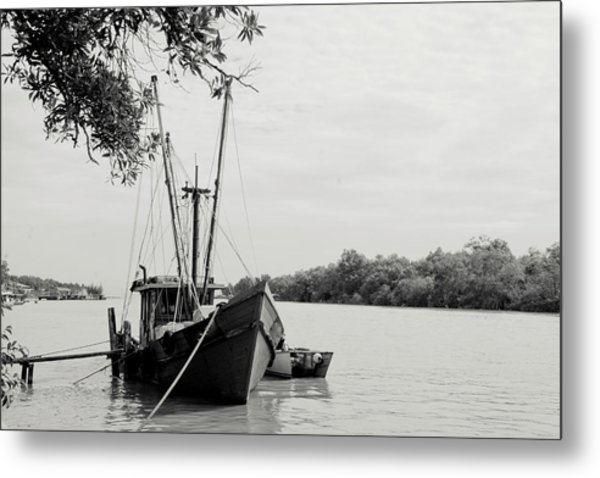 Fishing Bumboat Metal Print by Photo Copyright of Love Image Lab (by Sim Chin Ping)