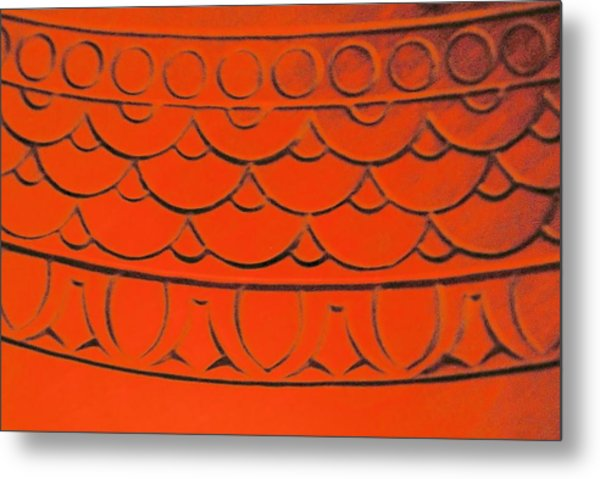 Flaming Arches Metal Print by