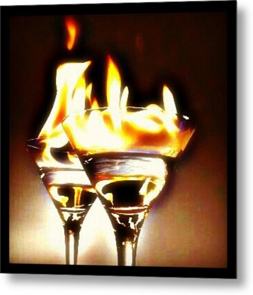 Flaming #cocktails Make For A Very Good Metal Print