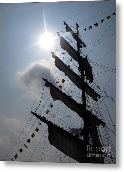 Fleet Week - Main Sail Metal Print by Maria Scarfone