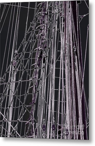 Fleet Week - Ship's Ropes Metal Print by Maria Scarfone