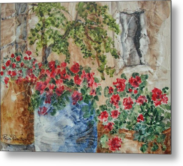Metal Print featuring the painting Fleurs De France by Paula Robertson