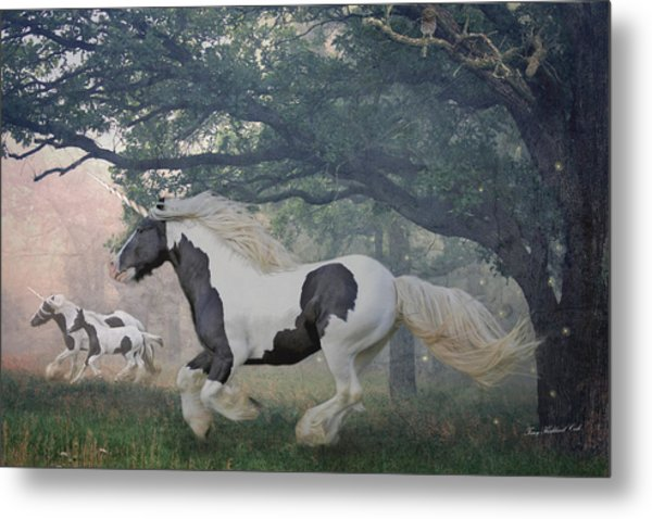 Flight Of The Unicorns Metal Print