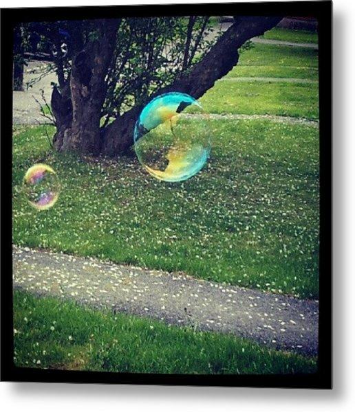 Floating Bubbles. #bubbles #floating Metal Print