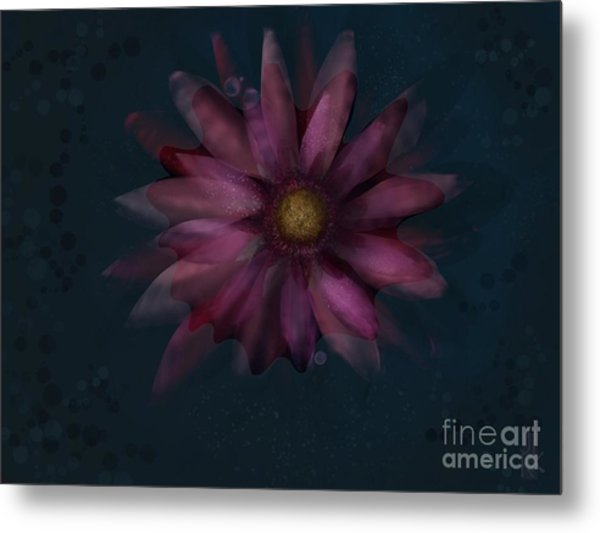 Floating Flower Metal Print