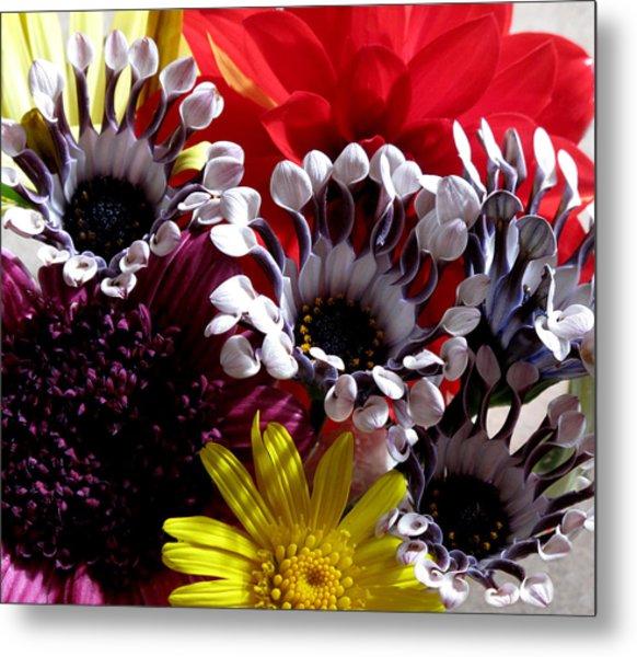 Floral Bliss Metal Print by Monika A Leon