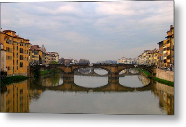 Florence Italy Bridge Metal Print