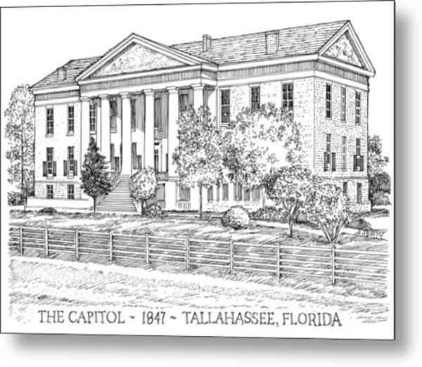 Florida Capitol 1847 Metal Print