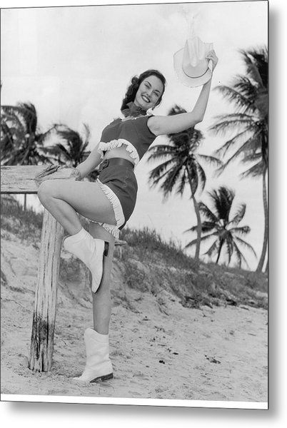 Florida Cow Girl Metal Print by Archive Photos
