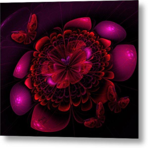 Flower Burst Metal Print