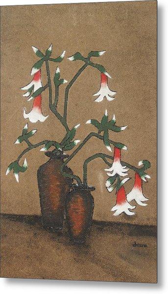 Flower Pot Metal Print by Rejeena Niaz