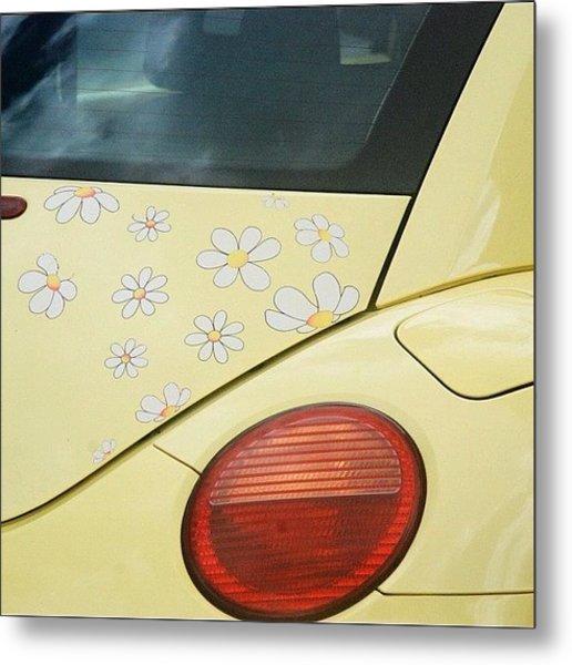 Flower Power #car #coccinelle #beetle Metal Print