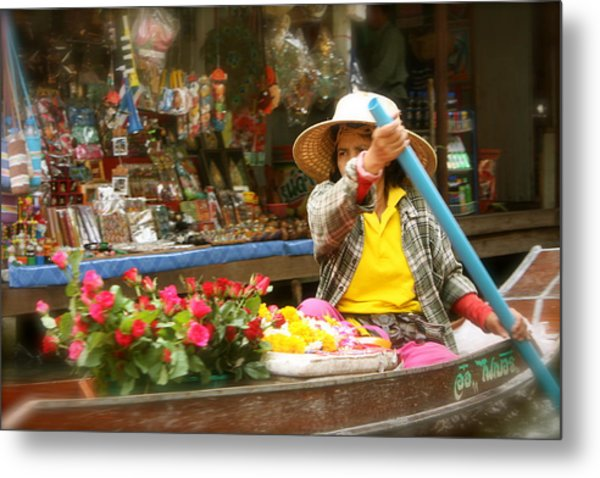 Flowers For Sale Metal Print