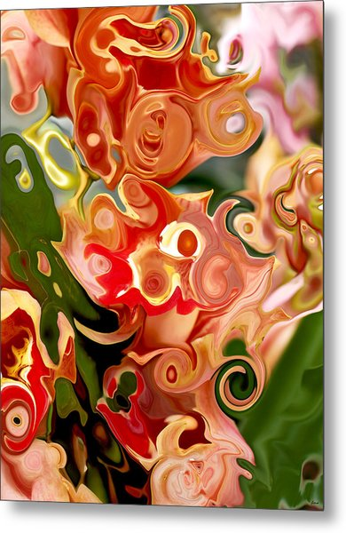Flowers In Abstraction Metal Print