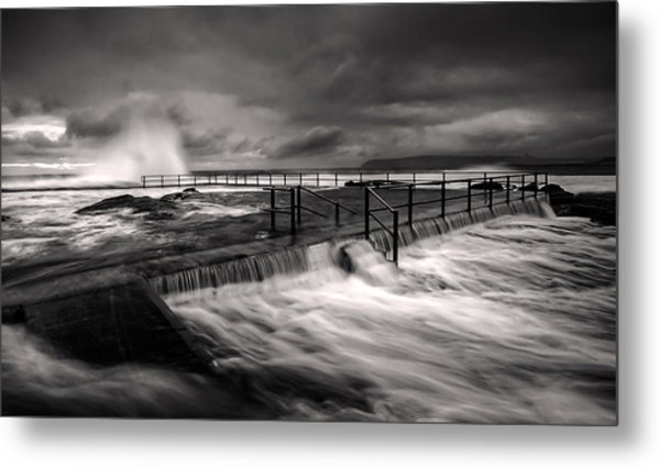 Flowing Mood Metal Print