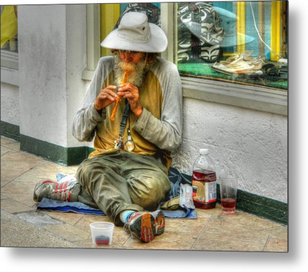 Flute Player Metal Print by David Mcchesney