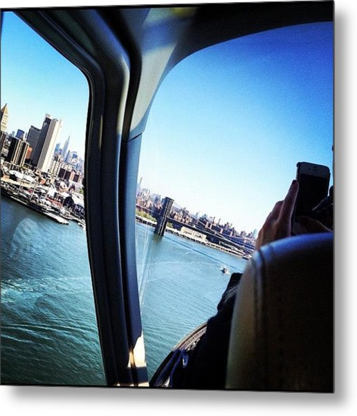 Flying By New York Metal Print