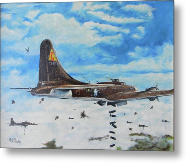 Flying Fortresses Metal Print