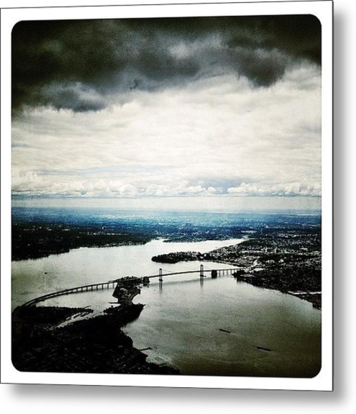 Flying Over New York Metal Print