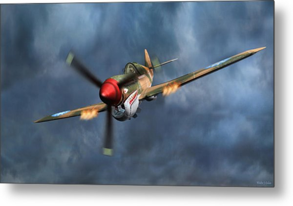 Flying Tiger P-40 Warhawk Metal Print
