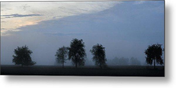 Foggy Pennsylvania Treeline Metal Print