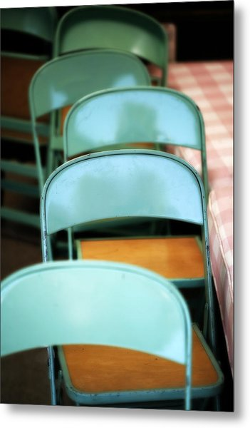 Folding Chairs Metal Print
