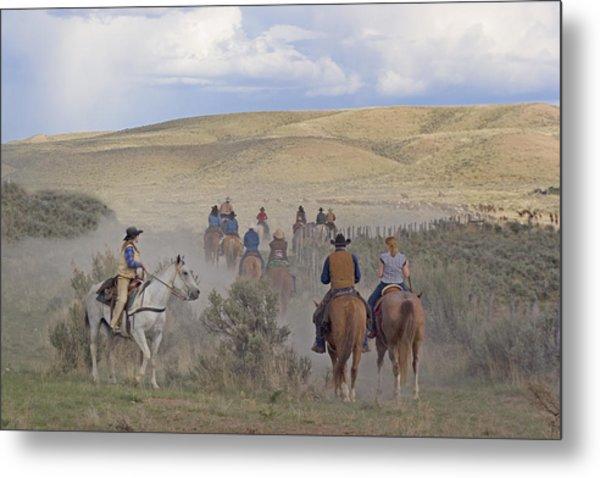 Following The Herd Metal Print by Judy Deist