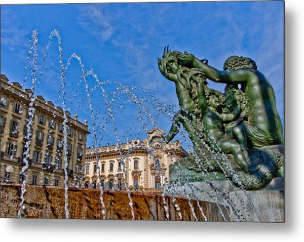 Fontana Di Piazza Solferino Metal Print