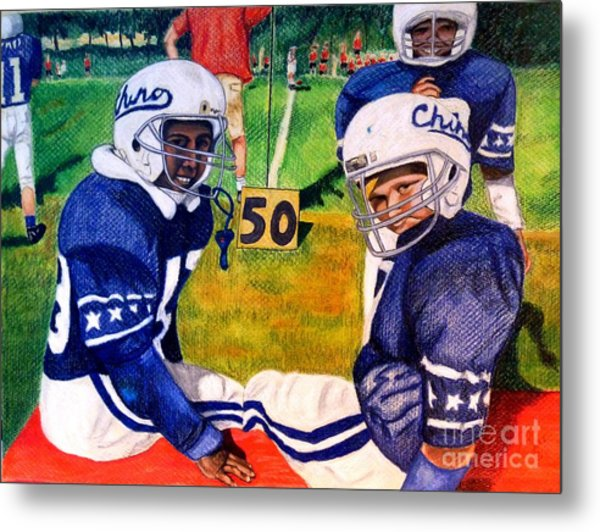 Football Buddies Metal Print