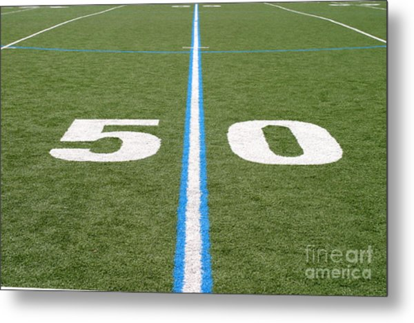 Football Field Fifty Metal Print