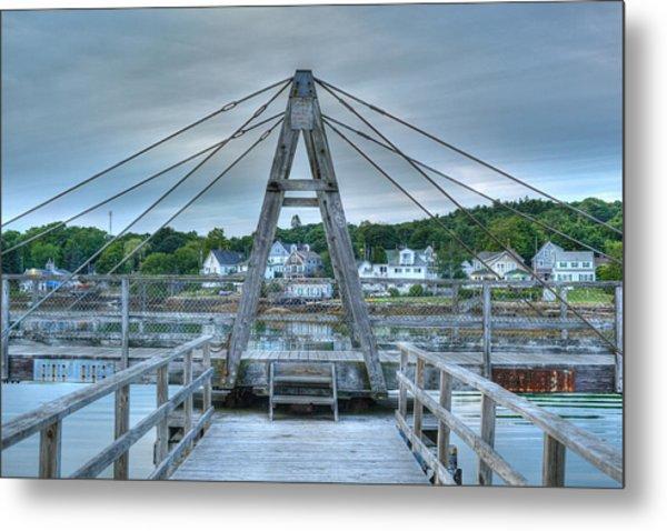 Footbridge Tower Metal Print by Ron St Jean