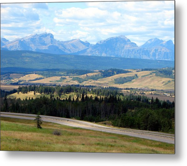 Foothills West Of Calgary Metal Print