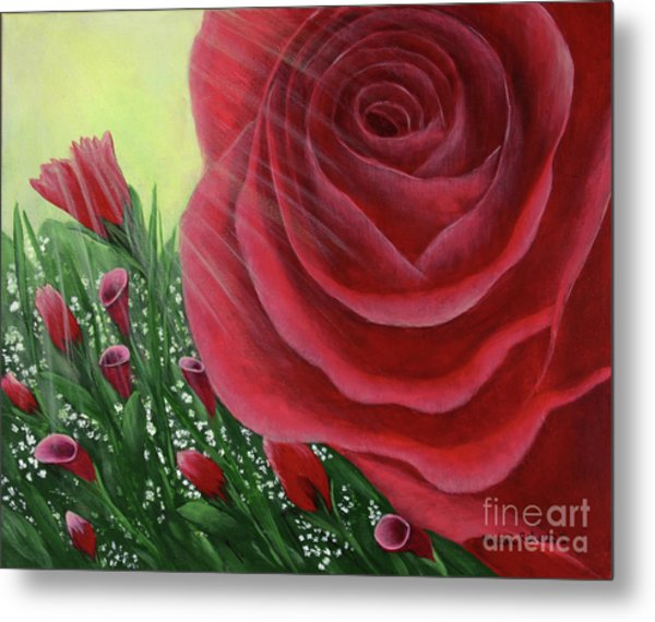 For The Love Of Roses Metal Print