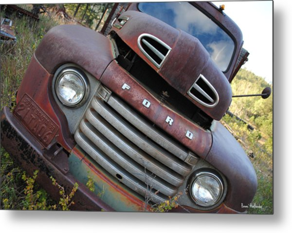Ford Metal Print by Bonae VonHeeder