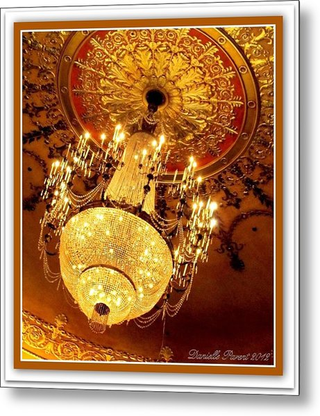 Ford Theater Candelier Metal Print