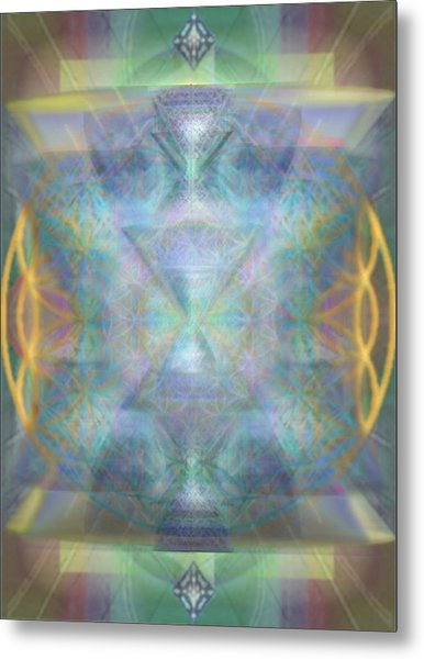 Forested Chalice II In The Flower Of Life And Vortexes Metal Print