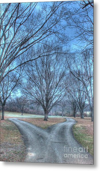 Fork In The Road Metal Print
