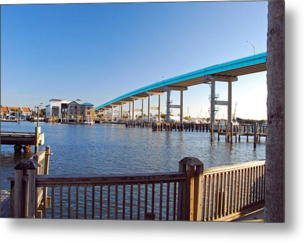 Fort Myers Bridge Metal Print