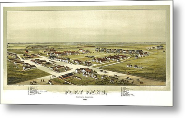 Fort Reno Oklahoma Territory 1891 Metal Print by Donna Leach
