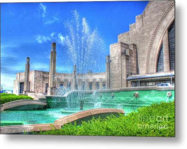 Fountain At The Museum  Metal Print