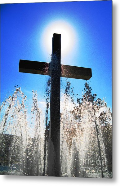 Fountain Of Hope Metal Print by Denise Hopkins