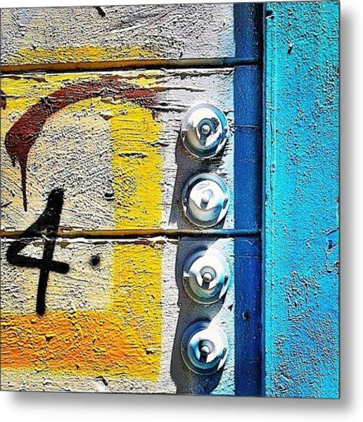 Four Doorbells Metal Print