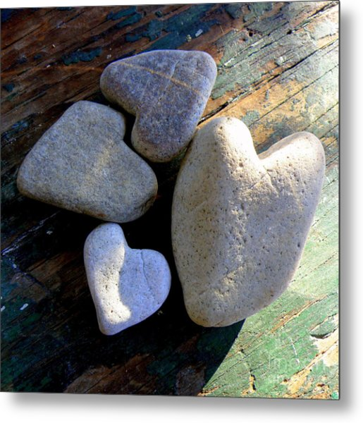 Four Stone Hearts Metal Print