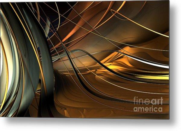 Fractal - Strings Metal Print by Bernard MICHEL